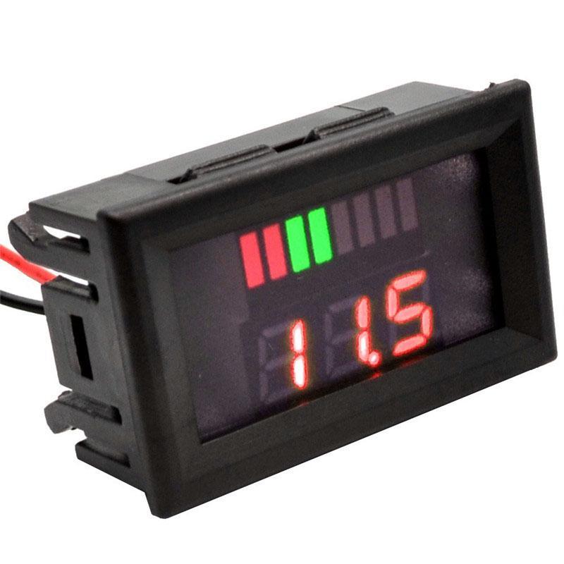 1PC 12 V DC Car Motor Red LED Digital Voltmeter Gauge Volt Voltage Panel Meter LED Displays Voltmeter Tool