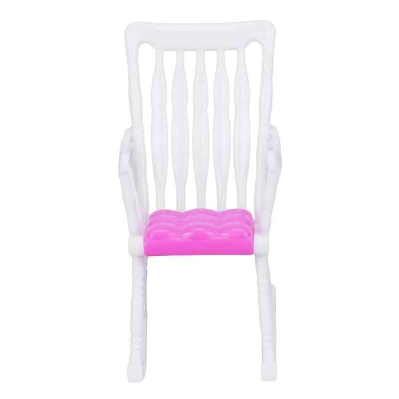 Akcesoria krzesła dla dziecka lalki dla dzieci dziewczyny Role Play zabawki prezent krzesło meble dla lalek dla dzieci dom dekoracje bożonarodzeniowe na prezent