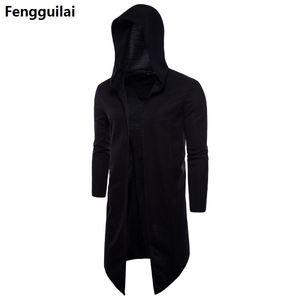 Image 2 - Trench Coat Men Spring Fashion Casual Long Windbreaker Slim Fit Trench Coat Plus Size Men  Overcoat warm winter