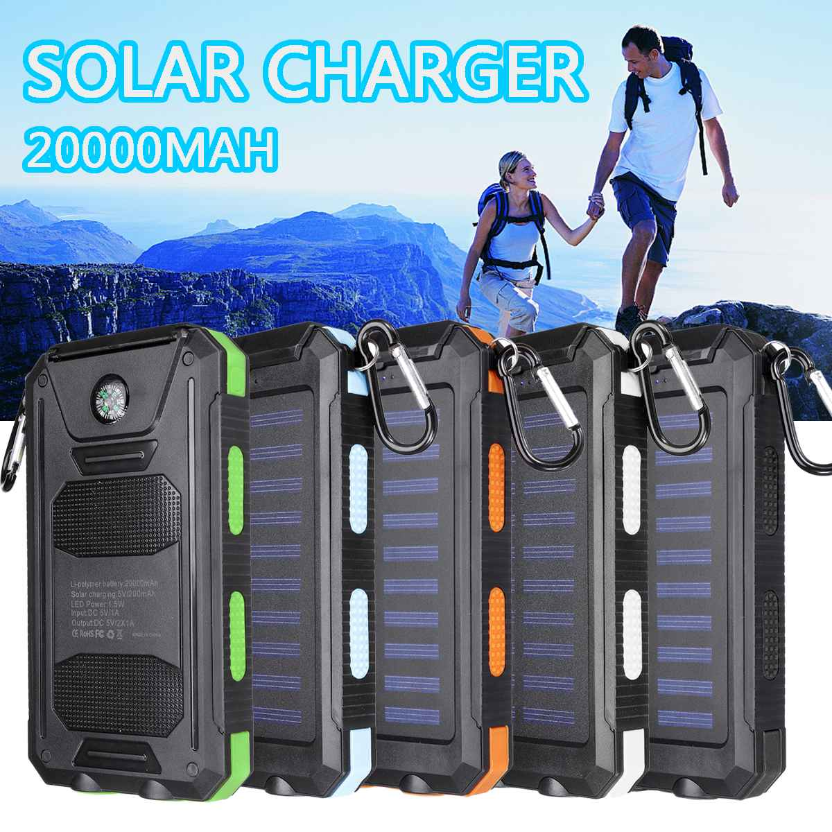 best top solar charger carabiner list and get free shipping