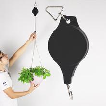 Ретро подвесная садовая корзина, выдвижная вешалка 20-90 см, выдвижной шкив, корзины, горшки для растений, подвесной таз, выдвижной крючок