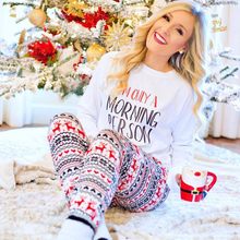 5fb6a46c0660 Warm Autumn Winter Fashion Womens Christmas Letter Snow Print Girls Pajamas  Sets Sleepwear Nightwear Loungewear Homewear