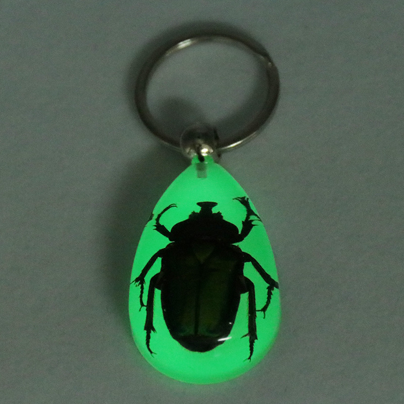 10 keychain scorpion cool insect glow in the dark teardrop style jewelry