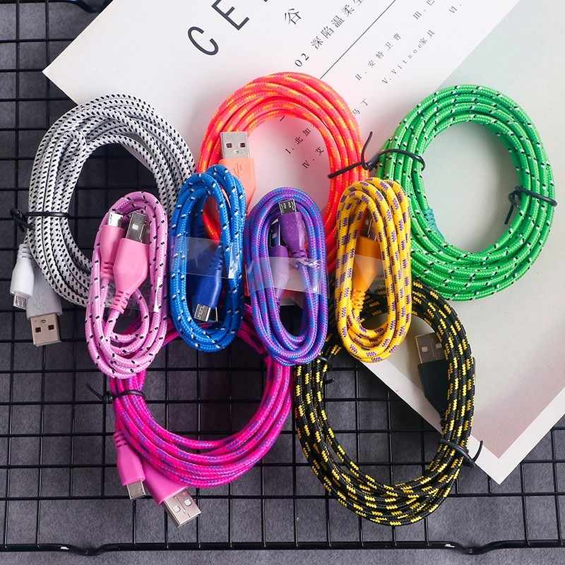 Apple iphone ios USB Cable For iphone 1m/2m/3m Data Sync Micro USB Charger Cable For Samsung Huawei Xiaomi Android Phone Cables