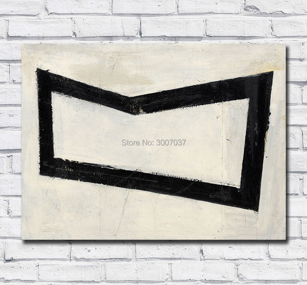 Fashion Large Size Painting Abstract Franz Kline Untitled Wall Art Picture Home Decor Living Room Modern Canvas Oil Paintings