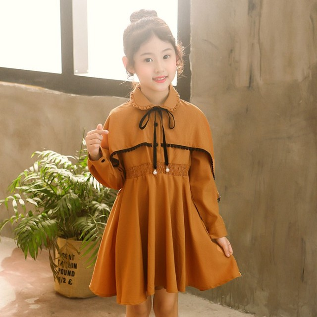 2019 Spring Girls Dress Baby Girl Autumn Long Sleeve 2-14Y Kids Party Dress Clothes Princess Dress Children Clothing