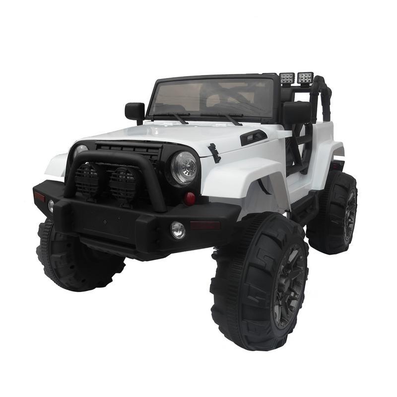 12 V enfants monter sur voiture SUV MP3 RC télécommande LED lumières rouge blanc rose enfants Suspension tout-terrain véhicule extérieur divertir