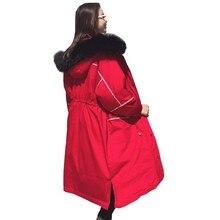 abrigos mujer invierno 2018 Long Down Jacket Fashion Loose Plu size Waist Red Winter Jacket Parka Women Padded Female overcoat стоимость