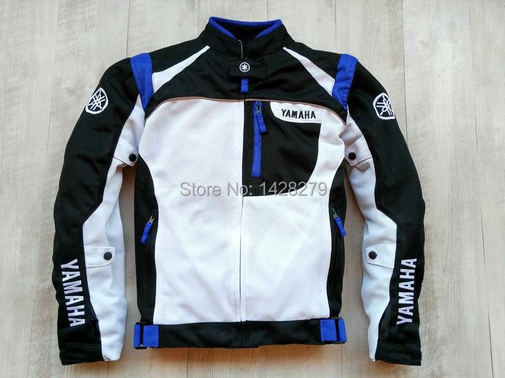 Veste de moto d'été en maille bleu rouge blanc pour vêtements de sport pour la course YAMAHA veste pour hommes avec couverture coupe-vent