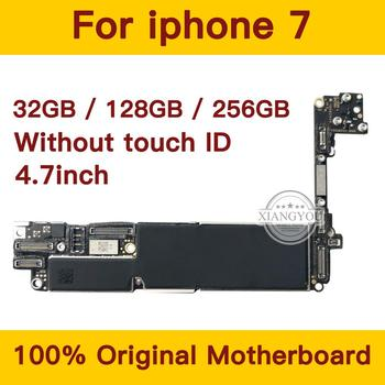 32gb / 128gb / 256gb for iPhone 7 Motherboard without Touch ID,Original unlocked for iphone 7 Mainboard with Chips,Good Tested