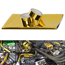 Gold Heat Protection Film Self-adhesive Heat Protection Tape Turbo Engine Insulating Sheet стоимость