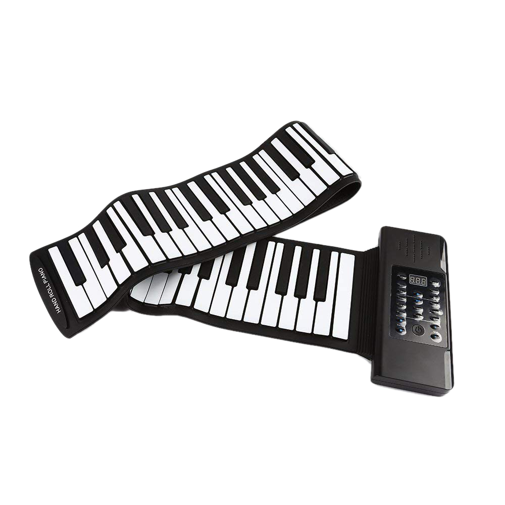Electric Roll Piano Portable Folding 88 Key Flexible Soft Silicone Electronic Music Keyboard Piano Usb Speaker Us Plug
