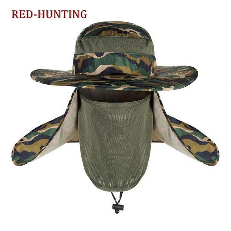 Outdoor UV Protection Face Neck Flap Sun fishing hat Mask Headband Fishing  equipment Fishing Sun Rain Anti mosquito Hat-in Fishing Caps from Sports ... c073afe33f6e
