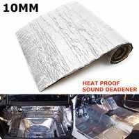 100cmx40cm available Auto Car Heat Sound Deadener Insulation 10mm soundproof auto thermal insulation auto accessories rubber mat