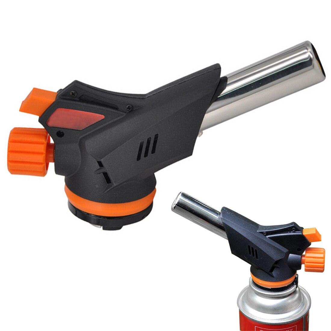 509C Gas Torch Flamethrower Automatic Multifunctional Piezo Lgnition Spray Gun Camping Welding BBQ Travel Flame Gun