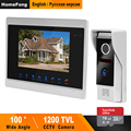 HomeFong 7 дюймов проводной HD 1200TVL видеодомофон дверной звонок камера водонепроницаемый ИК ночного видения камера дверной звонок комплекты дом...