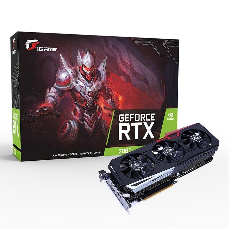 IGame coloré GeForce RTX 2060 Ultra OC 6 GB GDDR6 192Bit 1365-1680 Mhz 14 Gbps Gaming carte graphique - 2