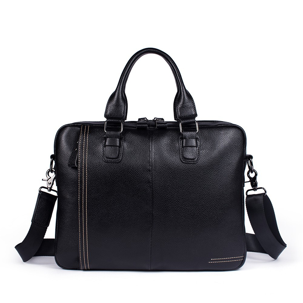 2018 Business Briefcase Laptop Bag Cow Leather Multifunction Waterproof Handbags Business Portfolios Man Shoulder Travel Bags