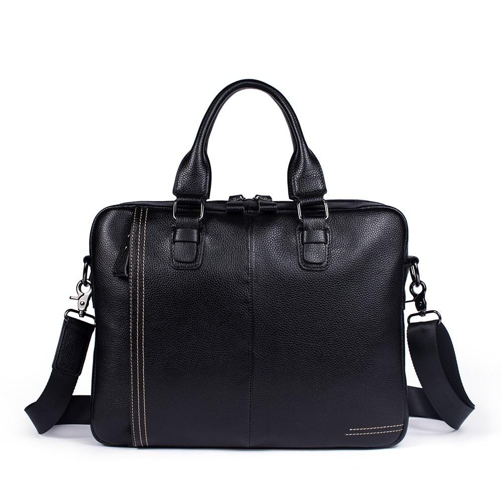 2018 Business Aktentasche Laptop Tasche Kuh Leder Multifunktions Wasserdichte Handtaschen Business Portfolios Mann Schulter Reisetaschen Die Neueste Mode