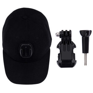 Image 3 - For Go Pro Accessories Outdoor Sun Hat Topi Baseball Cap with Holder Mount for GoPro HERO5 HERO4 Session HERO 5 4 3 2 1 black
