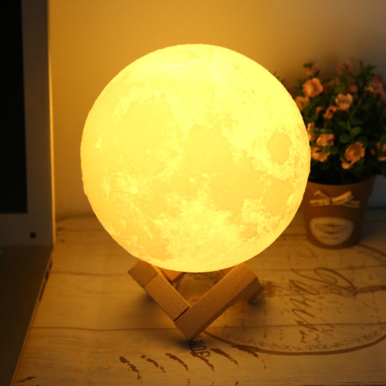 Moonlight changeant chevet lune lumière lampe Table 3D veilleuse couleur 494g LED USB nuit cadeau capteur 9 h lampe tactile lampe