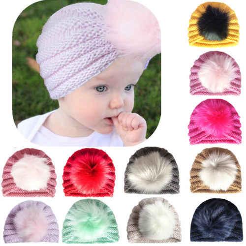 ทารกแรกเกิดเด็กวัยหัดเดินเด็กสาวเด็กอินเดียหมวก Beanie หมวกฤดูหนาว Warm Soft หมวกหมวก