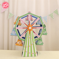 New Ferris Wheel Cupcake Stand DIY 8 Cup Paper Cupcake Stand Cake Holder Decoration Display Wedding Birthday Party Kids Supplies