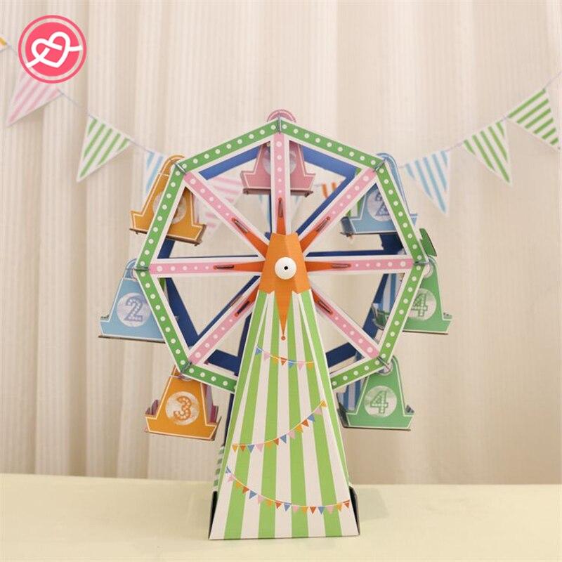 Nouvelle grande roue Cupcake Stand bricolage 8-tasse papier Cupcake Stand support de gâteau décoration affichage mariage fête d'anniversaire enfants fournitures