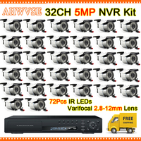 H.264 H.265 5MP 32CH NVR With 32 Channel Video Recorder 4 SATA Interface Support H.265 For IP Camera Kit