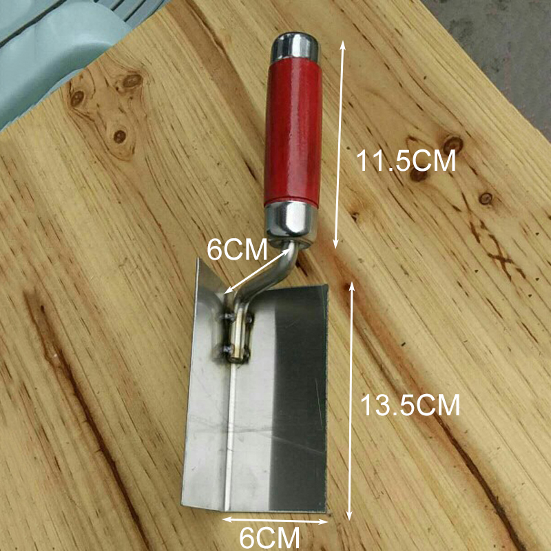 INSIDE CORNER TROWEL STAINLESS STEEL BLADE POINTED INTERNAL PLASTERING DIY NEW
