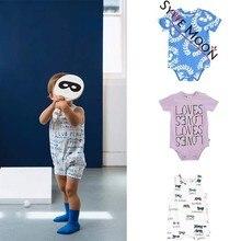 Гимнастические костюмы для мальчиков 2019 летние быть любит бренда девушки печати комбинезоны для новорожденных хлопок одна единица одежды малышей Костюм