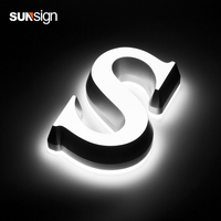 manufacturer supply outdoor led sign board built up acrylic letters