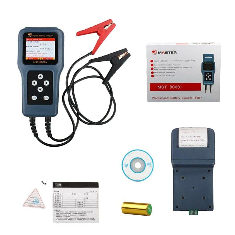 Testeur de batterie d'analyseur de batterie numérique automatique de 12 V 24 V Mst-8000 + avec l'imprimante