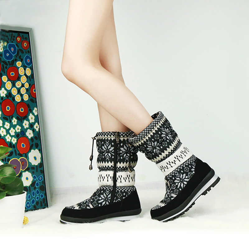 GOGC Russian Famous Brand Winter Boots for Women High Quality Warm Flower Women Winter Shoes Female