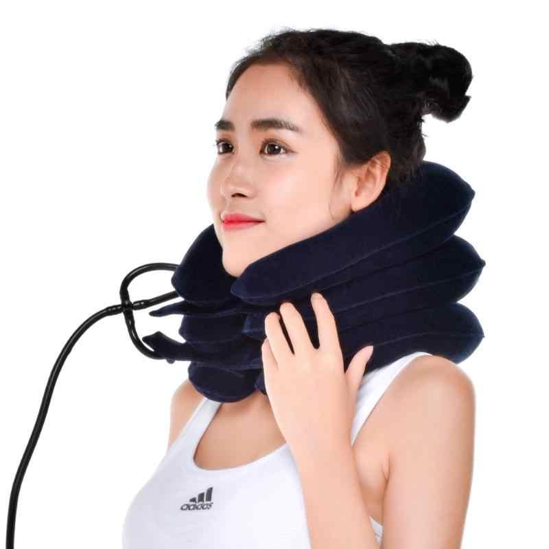 U Leher Udara Bantal Tiup Bantal Leher Brace Leher Nyeri Bahu Bersantai Dukungan Massager Bantal Udara Bantal Traksi Lembut