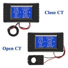 Multímetro Digital con pantalla de PZEM-022 CA, Monitor de potencia, voltímetro, amperímetro, medidor de frecuencia, medidor de Factor
