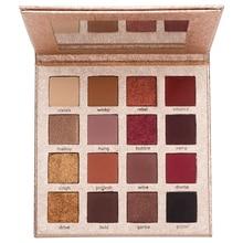 ICYCHEER 16 Colors  eyeshadow pallete palette Matte Wet eye shadow Shimmer Glitter Luminous Easy to Wear