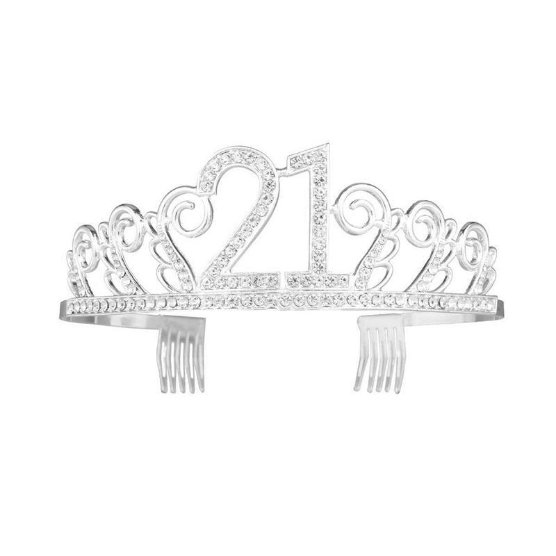 New 21st Birthday Crown Digital Hat Rhinestone Hair