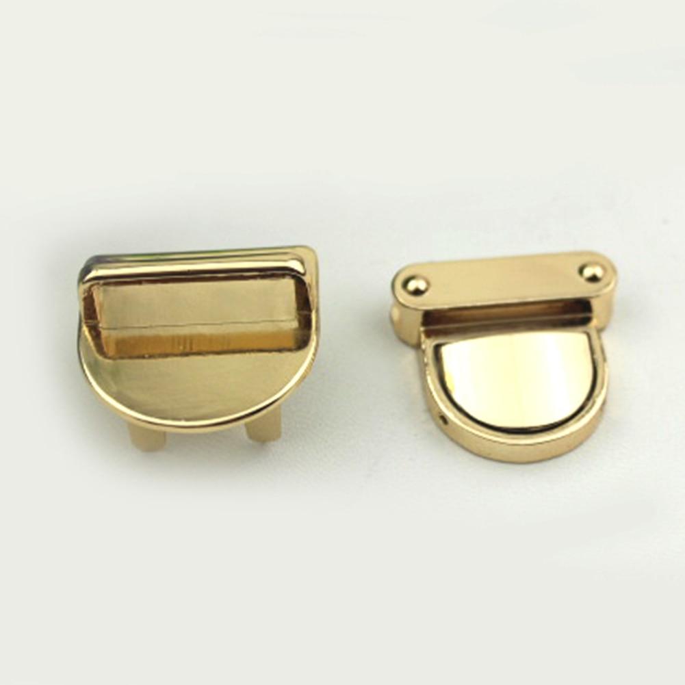1PC Metal Handbag Clasp Turn Lock Buckle Bag Accessories Twist Lock For DIY Bag Purse Hardware Closure New 4 Color