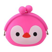 Women Girls Wallet Kawaii Cute Cartoon Animal Silicone Jelly Coin Bag Purse Kids Gift Penguin