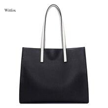 цена на Women tote bag fashion big capacity genuine leather handbags simple designer style PAD/ BOOK pocket