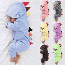 3-24 м; детские комбинезоны с динозавром из мультфильма для маленьких девочек и мальчиков; комбинезон с длинными рукавами для новорожденных; пижамы; одежда для малышей