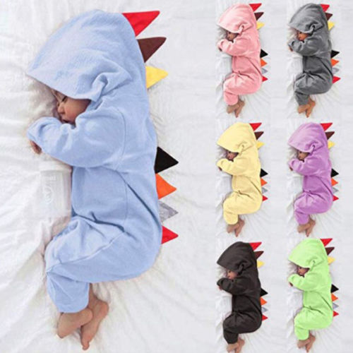 3-24M Cartoon Dinosaur Infant Baby Girl Boy Rompers Newborn Baby Long Sleeve Jumpsuit Pajamas Baby Clothing