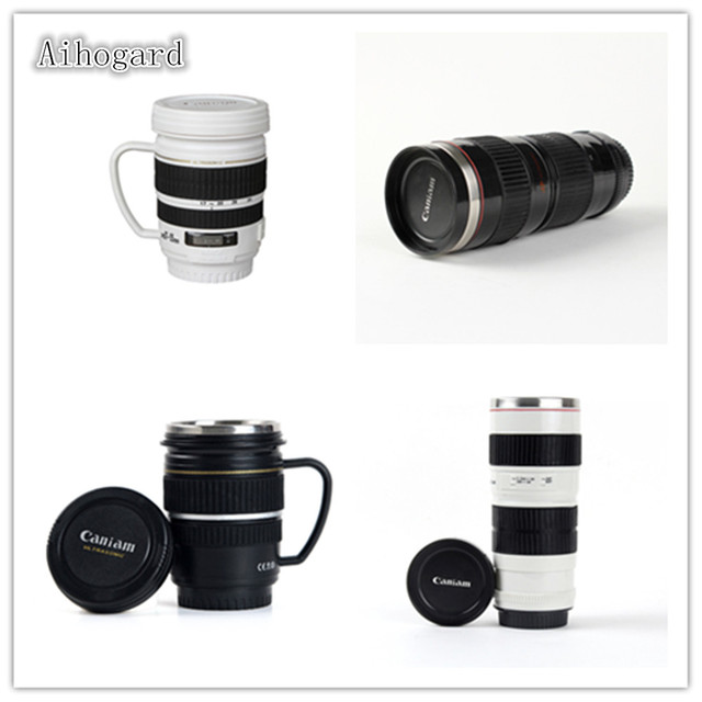 Mug 220ml440ml Thermal Lids Tea Thermo Decor Water Gift Cup new Camera 03 37Off Coffee Creative Lens Stainless Bottle Us4 In With Travel Steel DH2bEYeW9I