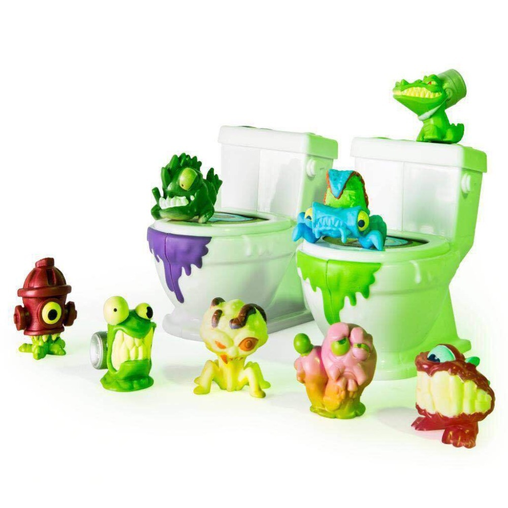 Flush Force Toilet And Flush Figure Series 1 Force Monster Soft Figures Collection Toys