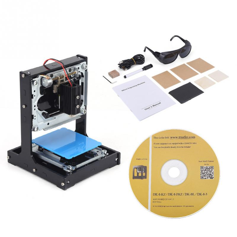 500mW Laser Engraving Machine USB DIY Laser Printer Engraver Printer Maker Woodworking Tool   Black-in Wood Routers from Tools    1