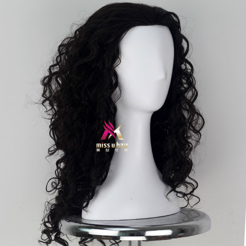 Synthetic None-lacewigs Miss U Hair Women Fluffy Long Reddish Copper Brown Black Color Curly Hair Halloween Cosplay Costume Wig Adult