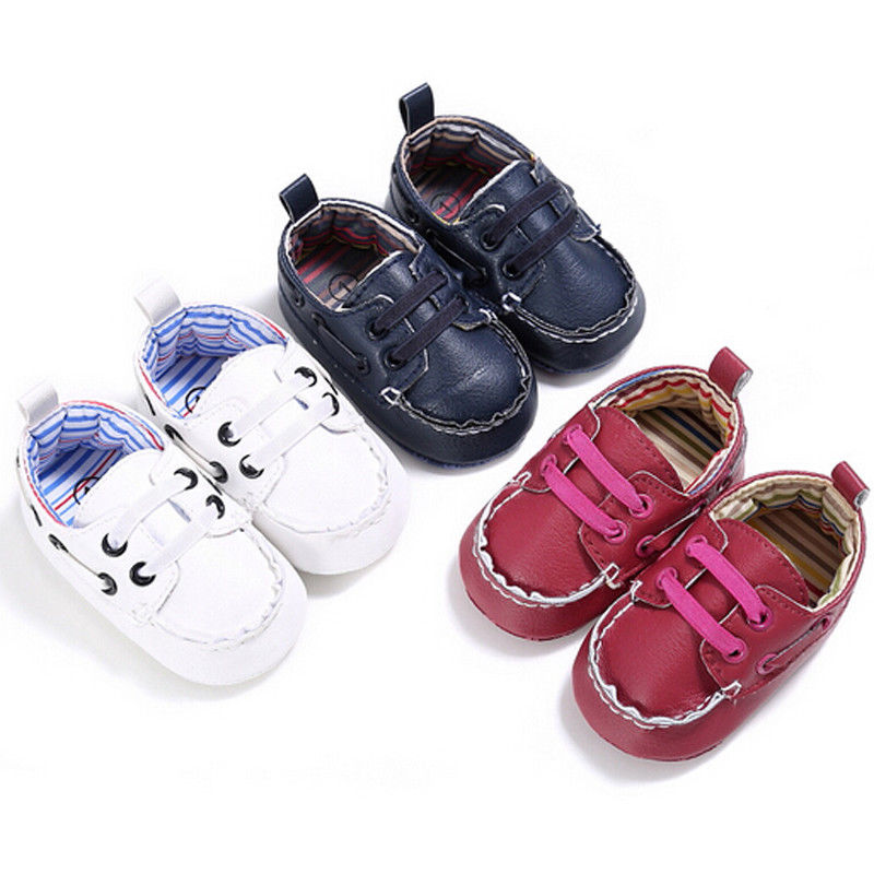 Pudcoco Brand New Newborn Baby Girl Casual  Shoes Leather Shoes Antislip Soft Sole Toddler Shoes