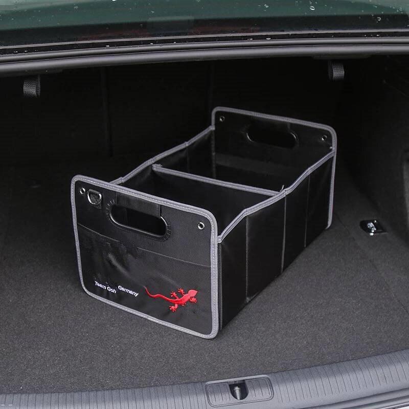 1X Para Audi A1 A3 A4 B5 B6 B7 B8 C5 C6 C7 A5 A6 A7 A8 Q3 Q5 Q7 8 P 80 V8 8L 8 V Acessórios Car Styling Trunk Box Estiva Tidying