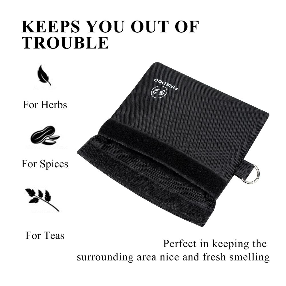 Smell Proof Bag Carbon Lined Pouch for Weed Herb Odor Proof Container Storage A+